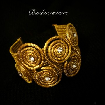Bracelet 4 brins et spirales