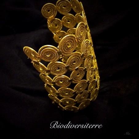 Bracele manchette à spirales (large)