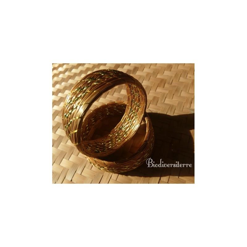 Bracelet 3 brins sertis plaqué or