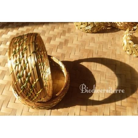 Bracelet or & quartz vert