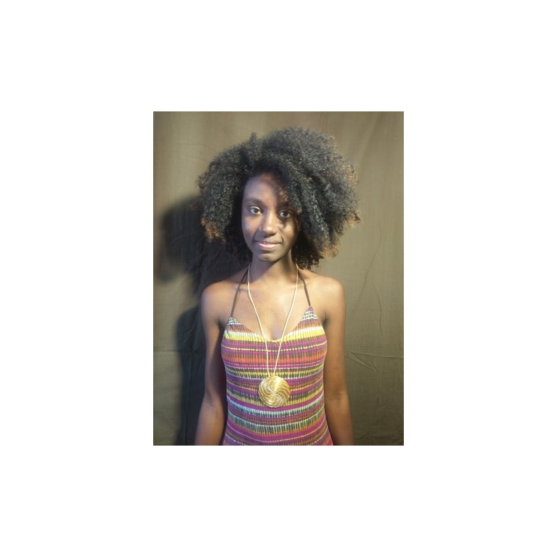 Bracelet Cuir et Or (Marron)