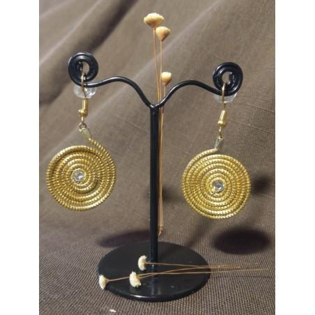 Boucles d'oreilles anneaux d'or