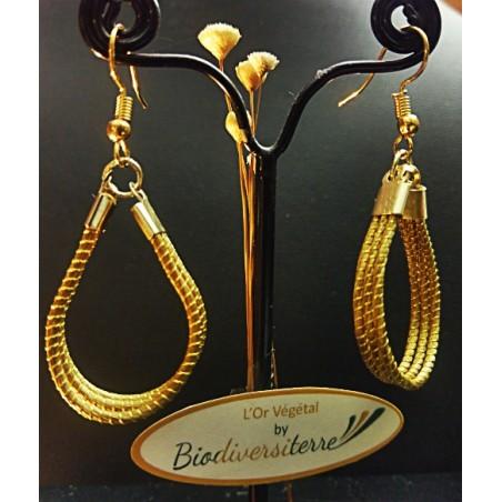 Boucles d'oreilles patte d'or