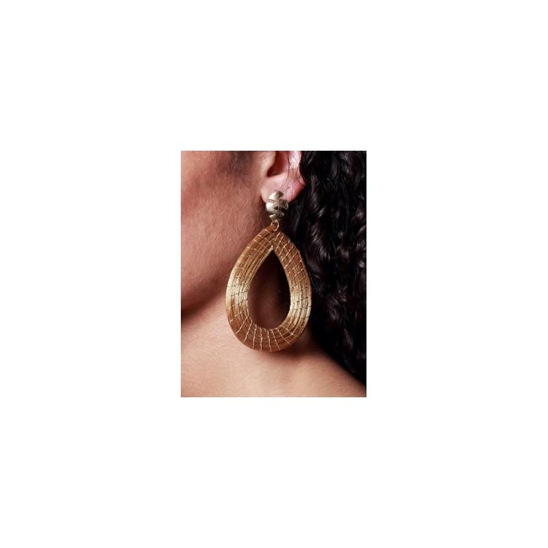 Boucles d'oreilles nid d'or