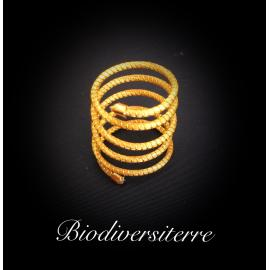 Bague serpent d'or