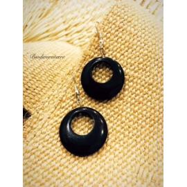 Boucles d'oreilles Eclipse Marron
