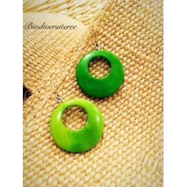 Boucles d'oreilles Eclipse Verte