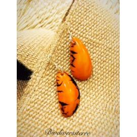 Boucles d'oreilles Demi Graine Caramel