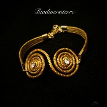 Boucles d'oreilles double spirale
