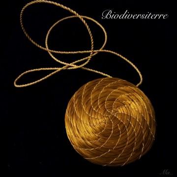 Sautoir Mandala avec collier en soie de Palmier