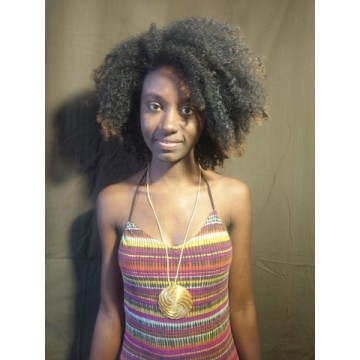 Bracelet Cuir marron et or