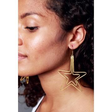 Boucles d'oreilles Etoile d'Or