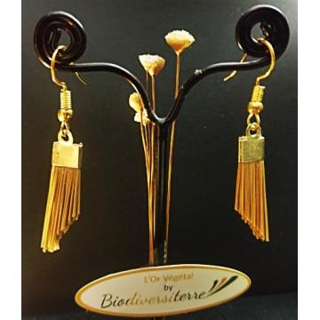 Boucles d'oreilles fil d'or