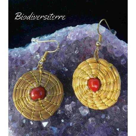 Boucles d'oreilles Mandalinha vermelha